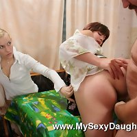 Mom seduces daughter video